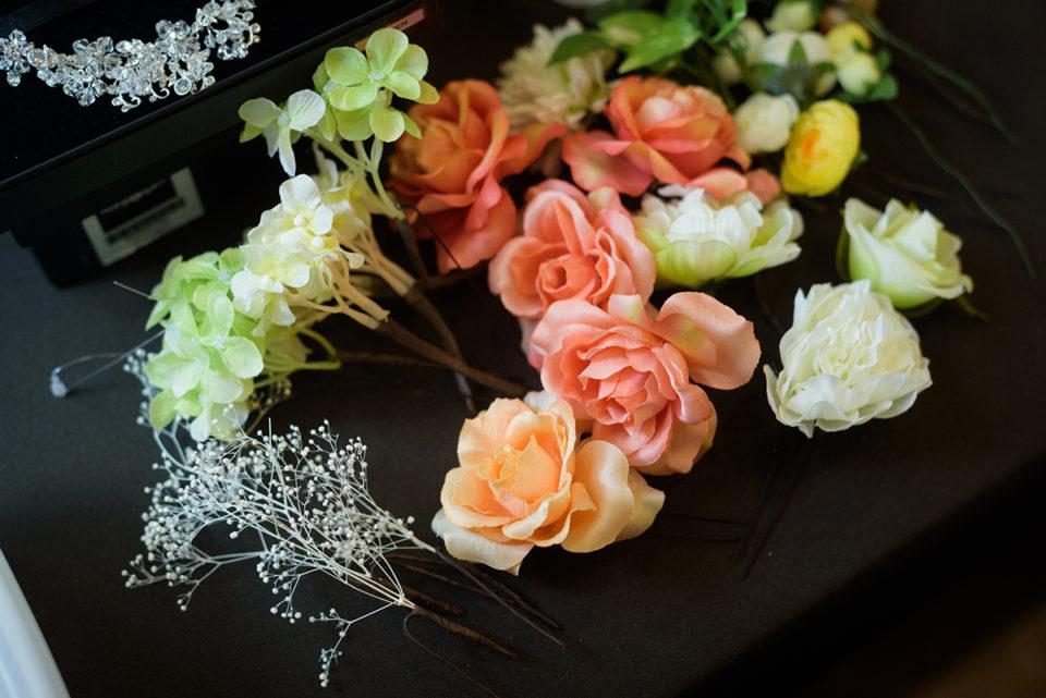 新婦手作りの花