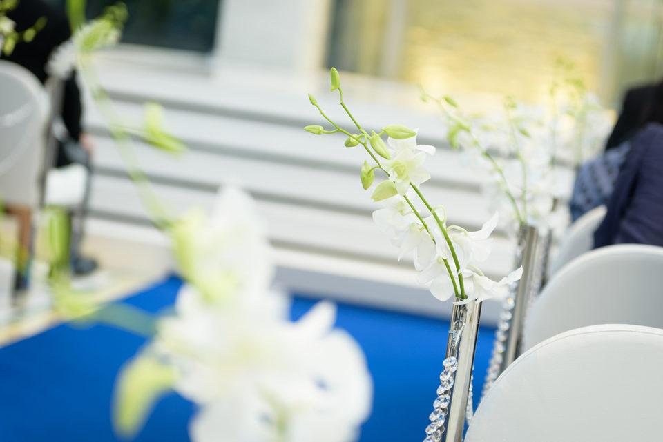 アルカンシエル南青山のチャペルの花