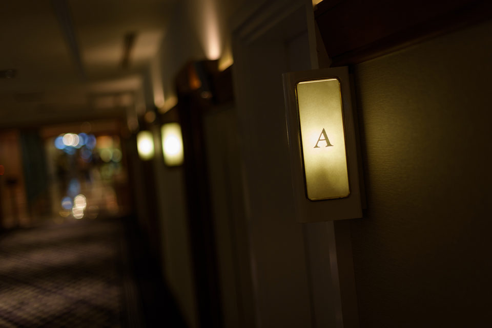 ホテルニューオータニのブライズルーム入り口