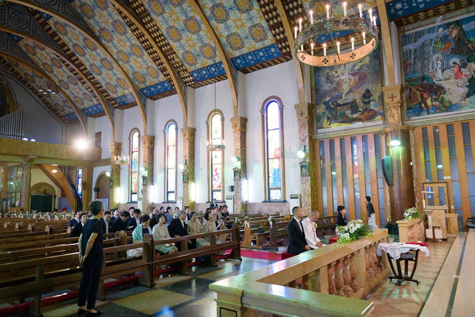 新婦入場前のサレジオ教会