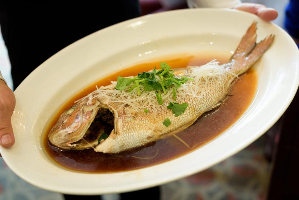 シェラトン都ホテルの中華料理四川の魚料理