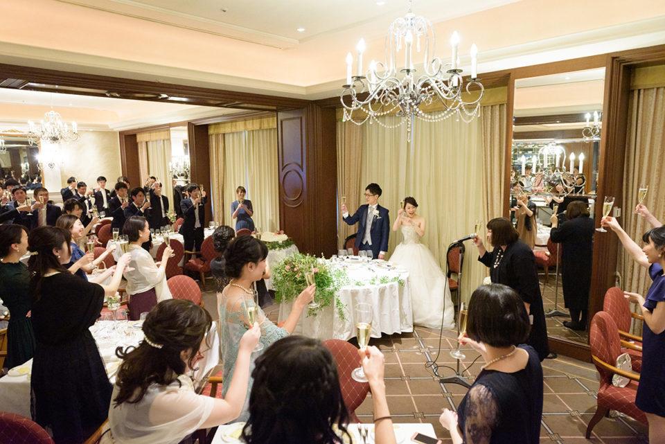 ウェスティンホテル東京のビクターズでの乾杯