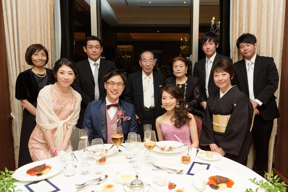ウェスティンホテル東京ビクターズでの家族写真