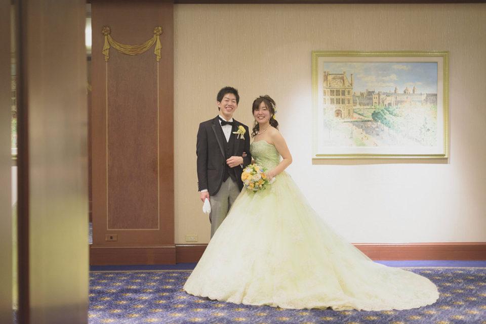 ウェスティンホテル東京地下でのポーズ写真